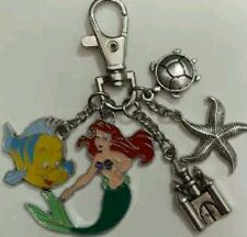 Little Mermaid Ariel and Flounder themed keyring