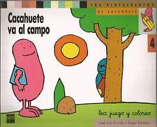 Cacahuete va al campo Los Pintacuentos De Cacahuete 4 Leo, juego y coloreo