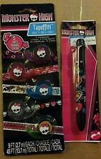 Monster High NEW 5-pk Tapeffiti & Clawsome 6 Color Pen. FANGTASTIC Gift Items!