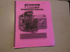 THE FAST AND THE FURIOUS DRIFT  arcade game    OWNERS manual