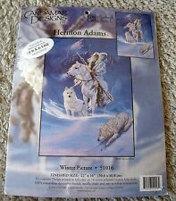 NIP Candamar Hermon Adams Winter Picture Embellished Cross Stitch Kit Dog Horse
