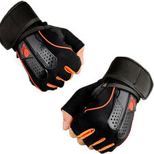 Unisex Breathabe Exercise Training Weight Lifting Gloves w/ Long Wrist Wrap