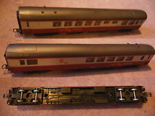 WAGONS voyageur GE gril express rouge LIMA HO coach waggon
