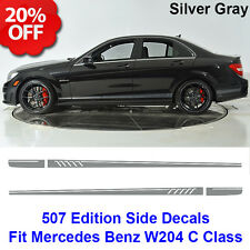 507 Style Side Stripes Decals Vinyl Sticker for Benz W204 C Class AMG Matt Grey