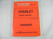 1980 TOYOTA STARLET OEM ORIGINAL CHASSIS REPAIR MANUAL KP60, KP61, KP62