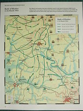 WW2 WWII MAP ~ BATTLE OF KHARKOV 2-23 MARCH 1943 GERMAN FRONT LINE & ATTACKS