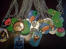 Angry Birds Space StarWars Dog Tag Necklaces Easter Bastet Boys/Girls Lot of 4