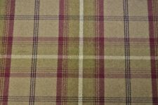 Porter & Stone Balmoral Tartan Wool Effect  Upholstery Fabric - Heather