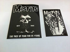 THE MISFITS 2-Pack of Stickers Face Of Fear & Eyeball NEW OFFICIAL Danzig