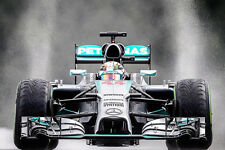 "F1 MERCEDES BENZ  FORMULA 1 LEWIS HAMILTON 30""x 20"" LARGE POSTER / PHOTOGRAPHY"
