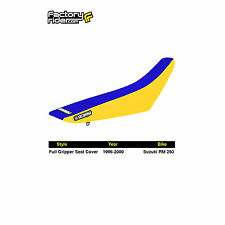 1996-1998 SUZUKI RM 250 Yellow/Blue FULL GRIPPER SEAT COVER BY Enjoy MFG
