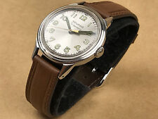 Movado Tempomatic Vintage 34mm Steel Mens Bumper Automatic Watch Beautiful Dial