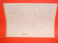 1970 FORD CUSTOM GALAXIE 500 XL CONVERTIBLE LTD BROUGHAM FRAME DIMENSION CHART