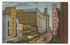 Granville Street Hudson Bay Company Store Vancouver BC Canada 1949 postcard