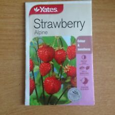 YATES STRAWBERRY SEEDS(ALPINE)  (BNISP) COLOUR & SWEETNESS