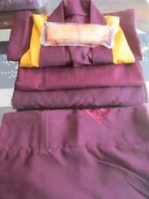 BUDDHA MONK ROBE TIBETAN LAMA - CHEST SIZE 40 INCHES ~ FULL SET ~ FREE BAG