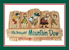 "16 3/4"" X 11 3/4"" TIN SIGN MOUNTAIN DEW HILLBILLY FAMILY YAHOO METAL SIGN NEW"