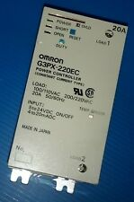 OMRON G3PX-220EC POWER CONTROLLER WITH G32Z-A20 POWER DEVICE CARTRIDGE