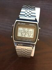 Vintage Lorus Men's Alarm Chronograph Digital Watch Y770-5250  Japan By Seiko