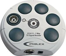 Philex 1-Way TV Aerial Signal Booster - Cream.