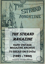 THE STRAND MAGAZINE - 73 RARE ISSUES - ART VICTORIAN LONDON - 5 DVDs (1891-1902)