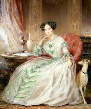 Oil Кристина Робертсон хороший русский молодой благородный дама с собакой