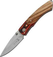 """Elk Ridge ER301 Gentleman Folding Knife Matte 2.25"""" Blade/2Tone Pakkawood Handle"""