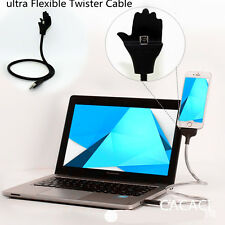 Ultra Flexible Metal Twister- iphone Cable Dock&Tripod Phone Holder Stand Dock