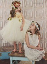 Fairytale tutu boutique tulle flower girls dress available in size 2t-6 girls
