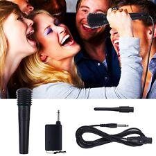2 in1 Microphone Mic Filaire Sans Fil Recepteur Studio System Antenne KTV Soirée