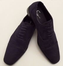 Sio Benet Classic Oxford Navy Blue Faux Suede Leather Dress Shoes Men Size 14 US