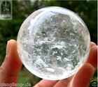 RARE 100% NATURAL Gemstone QUARTZ CRYSTAL SPHERE Ball 35-40MM + Stand