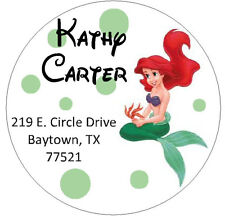 LITTLE MERMAID -  Round Return Address Labels