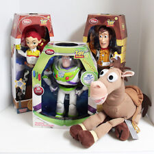 Disney Store Toy Story Woody Jessie Buzz Bullseye Talking Dolls Plush Dolls Set