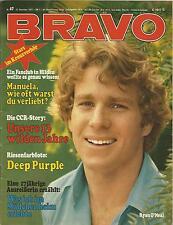Bravo-Heft Nr.47 aus dem Jahr 1971 / Ryan O`Neal