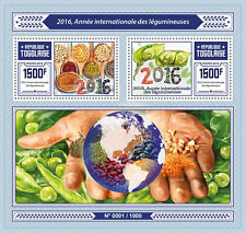 Togo 2016 MNH International Year of Pulses 2v S/S Legumes Grains UNESCO Stamps