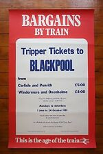 1981 Tripper Tickets to Blackpool Original Railway Travel Poster