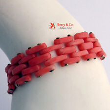 Vintage Coral Bracelet 14 K Gold Clasp