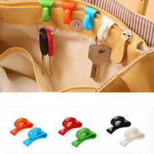 2PCS Plastic Hangers Key Ring Chain Holder Hook Handbag Shoulder Bag Organizer