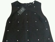 New *NEXT* (Size Uk 14 Tall) Wool Blend Black Dress