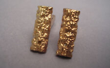 SET OF UNUSUAL COLLECTABLE VINTAGE CUFFLINKS GOLD NEW OLD STOCK 19 X 7 X 3.5 mm