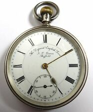 ANTIQUE EGLISH LEVER EXPRESS SHEFFIELD STERLING SILVER POCKET WATCH