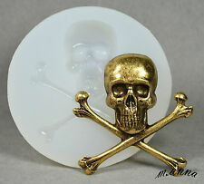 SKULL BONES SILICONE MOLD FOOD USE POLYMER CLAY RESIN FIMO MOULD PLASTER GOTH