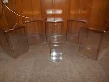 Lot of 6 Large Clear Acrylic Plastic Display Cases Seal Lidded Dustproof Box
