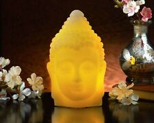 Brand New Decorative LED Flickering Wax Buddha Head Table Lamp Light