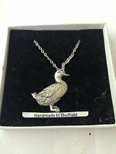 Duck Bird PP-03 Emblem on Silver Platinum Plated Necklace 18""