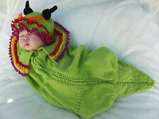 KNITTING PATTERN (INSTRUCTIONS) TO MAKE **CATERPILLAR AND SEA NYMPH' COCOON SETS