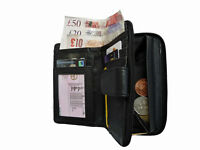 Thin Slim Leather Purse Soft Real Leather ladies Coin Tray Purses Pouch QL115K