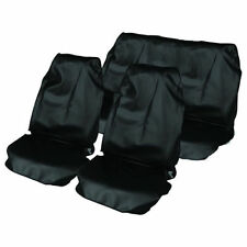 UNIVERSAL BLACK CAR SEAT COVER PROTECTOR SET WATER RESISTANT FRONT & REAR