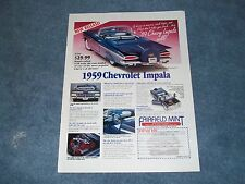 Fairfield Mint 1/16 Scale 1959 Chevy Impala Convertible Die-Cast Ad